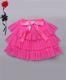 Ben Benny Tutu Skirt With Attached Bloomer - Dark Pink