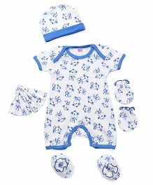 Ben Benny Clothing Set White Blue - 5 Pieces