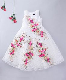Enfance Sleeveless Party Wear Gown - White