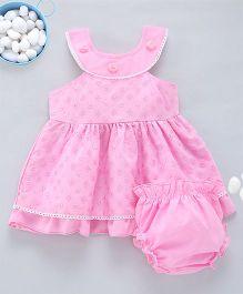 Kid1 Tank Neckline Chikan Work Dress - Pink