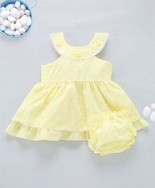Kid1 Tank Neckline Chikan Work Dress - Yellow