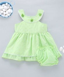 Kid1 Tank Neckline Chikan Work Dress - Lime Green