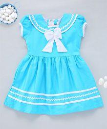 Kid1 Tiny Sailor Summer Dress - Sky Blue