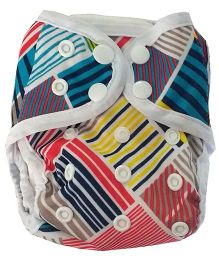 Chuddybuddy Newborn Diaper Cover With 2 Stay Dry Bamboo Inserts Bears & Lions Print - Multicolor