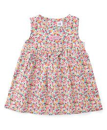 ToffyHouse Sleeveless Frock Floral Print - Multicolor