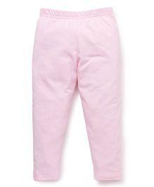 Babyhug Full Length Solid Colour Leggings - Light Pink