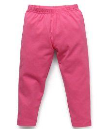Babyhug Full Length Solid Colour Leggings - Pink