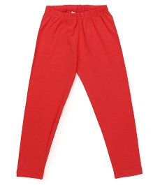 Babyhug Full Length Solid Color Leggings - Coral