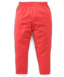Babyhug Full Length Solid Color Leggings - Coral