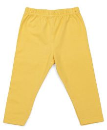 Babyhug Silicon Wash Leggings - Yellow