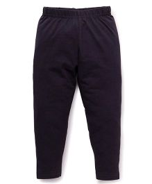 Babyhug Full Length Solid Colour Leggings - Dark Grey