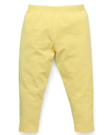 Babyhug Full Length Solid Colour Leggings - Light Yellow
