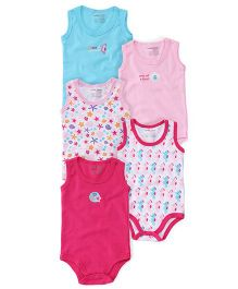 Luvable Friends Pack of 5 Onesies - Multicolor