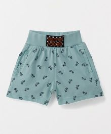 Spark Shorts Printed - Sea Green