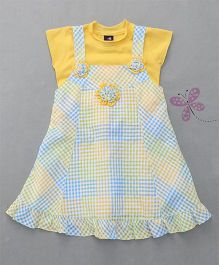 Enfance 2 Piece Dress With Inner Top - Yellow & Blue