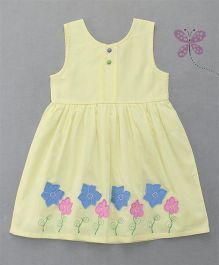 Enfance Sleeveless Embroidered Dress - Yellow