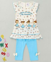 Hopsy Top With Bottom Set - Blue