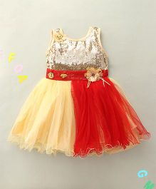 Hopsy Double Colored Party Dress - Red