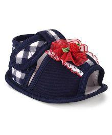 Hopsy Trendy Sandals For Girls - Navy Blue
