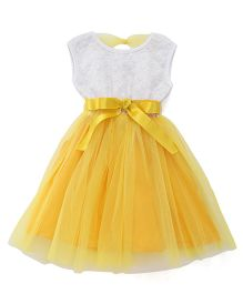 The KidShop Sequins Net Party Dress - Yellow