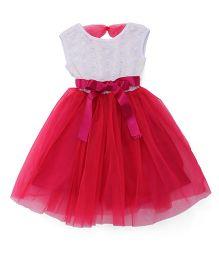 The KidShop Sequins Net Party Dress - Fuchsia