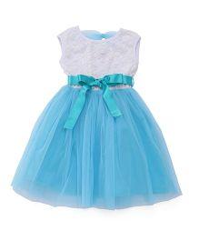 The KidShop Sequins Net Party Dress - Aqua Blue