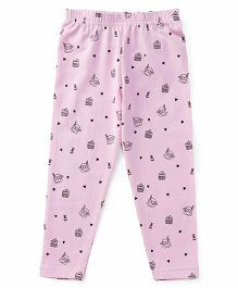 Babyhug Full Length Leggings Multiprint - Pink