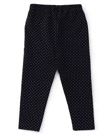 Babyhug Full Length Dotted Leggings - Black