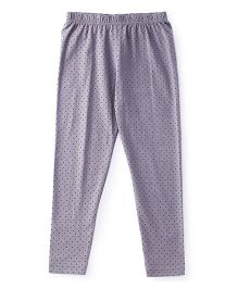 Babyhug Full Length Leggings Polka Dots Print - Grey