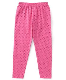 Babyhug Full Length Dotted Leggings - Pink
