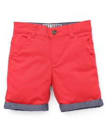 Palm Tree Shorts - Tomato Red