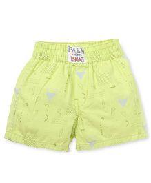 Gini & Jony Printed Casual Shorts - Lime Green