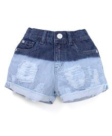 Gini & Jony Denim Shorts Wash Style - Blue