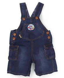 Little Kangaroos Dungaree With Pockets - Dark Blue