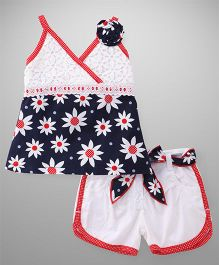 Little Kangaroos Singlet Top And Shorts Set - Blue White