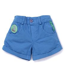 Little Kangaroos Shorts With Patch - Teal Blue
