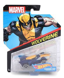 Hot Wheels Marvel Wolverine Toy Car - Yellow