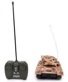 Classic Super Power Remote Control Panzer Tank - Cream Brown