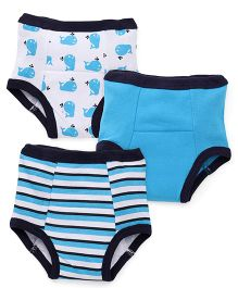 Luvable Friends Pack Of 3 Tracking Pants - Blue