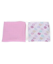 Hudson Baby Muslin Pack Of 2 Swaddle Blankets - Pink