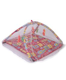 Lovely Novelty Play Gym With Net - Red Yellow