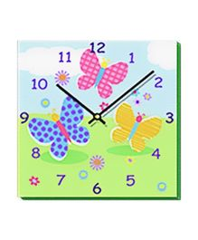 Fly Fly Butterfly - Wall Clock