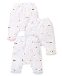 Zero Diaper Leggings White Blue Green Pink (Prints May Vary)