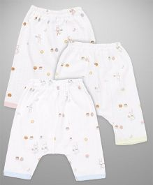 Zero Diaper Multi Print Leggings - White