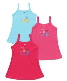 Zero Singlet Slips Pack Of 3 - Blue And Pink