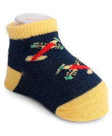 Mustang Sock Shoes Airplane Design - Blue Yellow