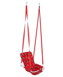 Mothertouch 2 In 1 Swing Teddy Bear Print - Red