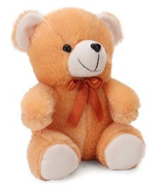 Playtoons Teddy Bear With Bow Neck Tie Brown - Height 20 cm