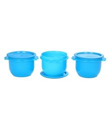 Signoraware 3 Star Cylindrical Bowl Container Set Of 3 Blue - 700 ml