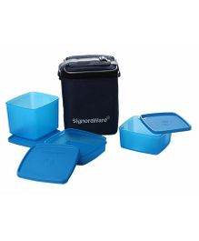 Signoraware Director Special Lunch Box With Bag - Blue
